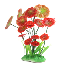Plastic Plant Grass for Aquarium Fish Tank Landscape Décor(Red) - intlPHP301. PHP 305