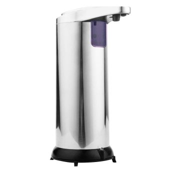Automatic Soap Dispenser Stainless Steel Hands-free Automatic IRSensor Touchless Soap Liquid Dispenser Auto-soap Dispenser 280MLfor Kitchen Bathroom Office Hotel - intl