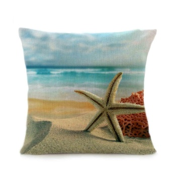 Beach Sofa Bed Home Decoration Festival Pillow Case Cushion Cover -intl