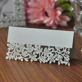 BolehDeals 50pcs Silver Table Name Number Place Card Wedding Party Invitation Favor