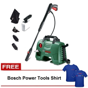 Bosch AQT 33-11 Pressure Washer with Car Wash SetwithFREEBoschShirt(Blue)