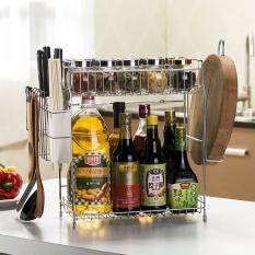 Buybuy Shop Spice Racks Stainless Steel Kitchen Seasoning Shelves Kitchen Storage Organizer Multi-function Chopping