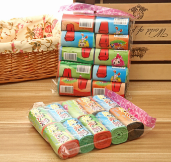 BYL [10 package] color disposable plastic garbage bags