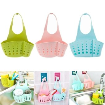 Candy Online 3PCS Kitchen Hanging Drain Bag Basket Bath StorageTools Sink Holder