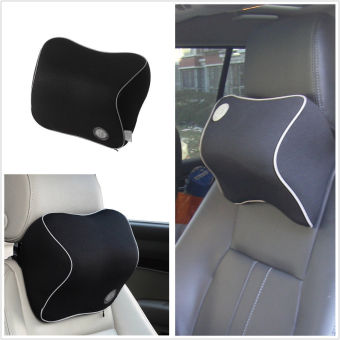 Car Seat Headrest Pad Memory Foam Travel Pillow Head Neck RestSupport Cushion (Intl)