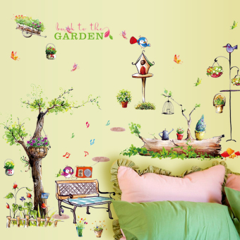 Cartoon living room wall bedroom sticker wall adhesive paper
