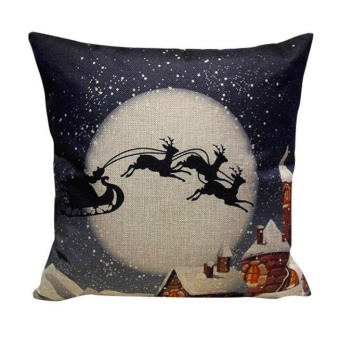 Christmas Sofa Bed Home Decoration Festival Pillow Case CushionCover - intl