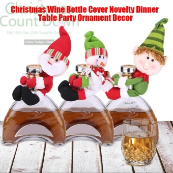 Christmas Wine Bottle Cover Novelty Dinner Table Party OrnamentDecor Home Display(Elf) - intl