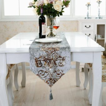 Classic Modern Cotton Linen Table Table Runner color:#4size:33*250cm - intl