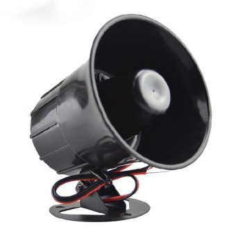 DC 12V Wired Loud Alarm Siren Horn With Bracket For Home Security - intl