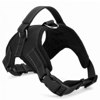 Dog Harness Adjustable Pet Dog Big Exit Harness Vest Collar Strapfor Small and Large Dogs Pitbulls - Black(M) - intl