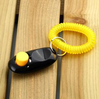 Dog Pet Click Clicker Training Obedience Agility Trainer Aid Wrist Strap