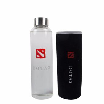 Dota 2 Glass Water Bottle with Dota 2 Sleeve Tumbler Mug 550ML