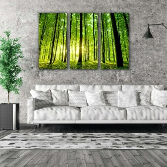 Easy Art Triptych 3-piece Into the Woods Premium Canvas Art