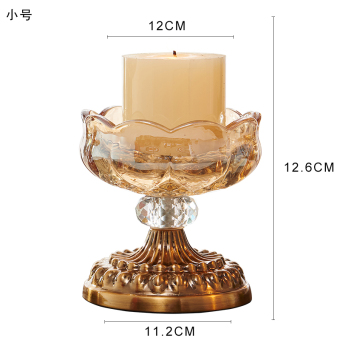 European crystal glass candle holders candle Candlestick