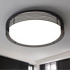 Fence Round Modern LED Ceiling Light 20W For Living Room Bedroom Dining Study Home Hotel Decorative Lamp ZP170411Black Diameter 45cm