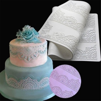 Flower Lace Embossed Fondant Mould Cake Decor Sugarcraft Baking Icing Paste Mold - intl