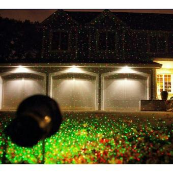 fmz outdoor and indoor christmas decorative laser light with red and green rotating spot star projector with 10 lighting modes for christmas holiday - Christmas Decoration Projector