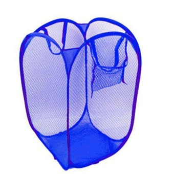Foldable Pop Up Washing Laundry Basket Bag Hamper Mesh Storage