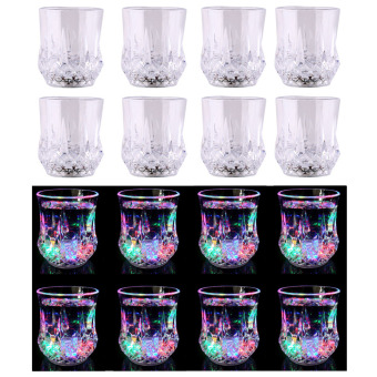 Greatnes D&D QCB-1 Creative Colorful Induction LED Luminescent Glass Set of 8(Diamond)