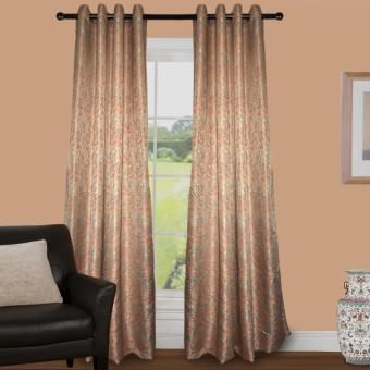 Grommet Block Out Single Panel Curtain Jacquard Textile(Multicolor)