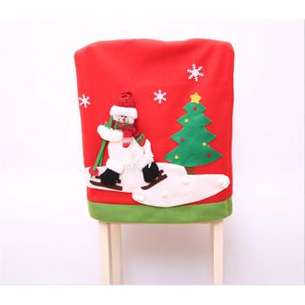 Hanyu Snowman Hat Chair Cover Christmas XMAS Decoration Party Holiday - intl