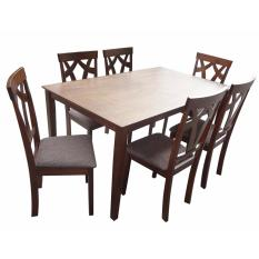 Hapihomes Brilliant Jew 6 Seater Dining Set With Cushion Seat