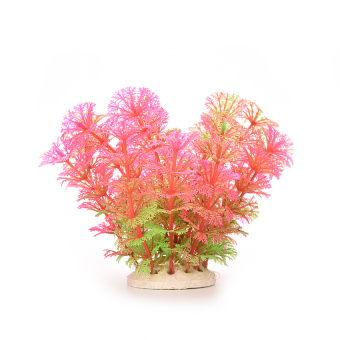 HKS Artificial Water Plant For Fish Tank Decoration Pink (Intl)