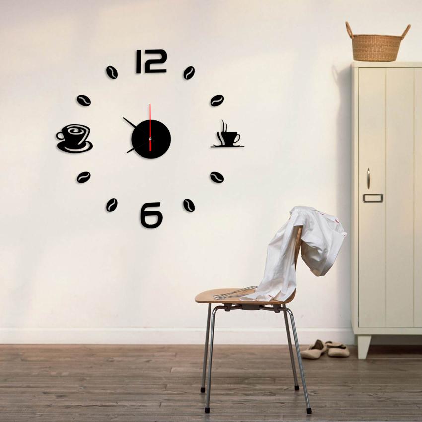 Modern home decor diy 3d mirror sticker artistic wall for 3d acrylic mirror wall sticker clock decoration decor