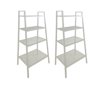 Ikea Lerberg Shelving Unit (White) Set of 2