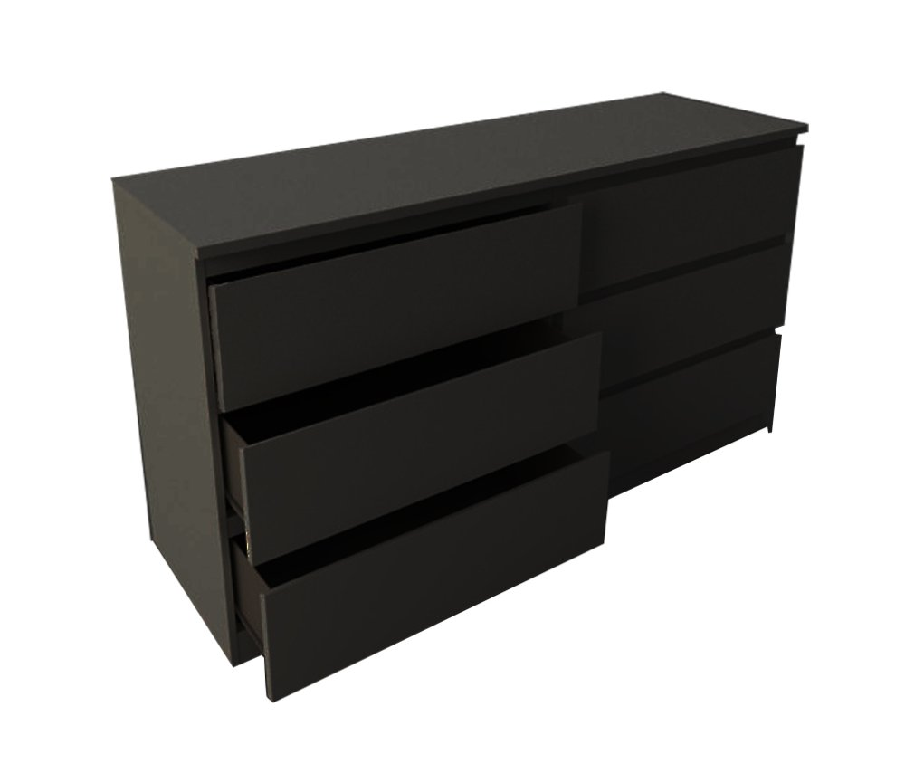 Ikea malm 4 drawer dresser - Ikea Malm Chest Of 6 Drawers Wide Black Brown Dresser Chests For Clothing Prices Brands In