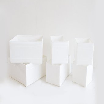 Ikea Skubb Box Set of 6 (White)