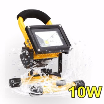 IP65 Rechargeable Flood Light 10W Outdoor Waterproof Flood LampWorking Light Project LED Light
