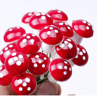 Jetting Buy Garden Ornament Miniature Mushroom Figurine 10Pcs