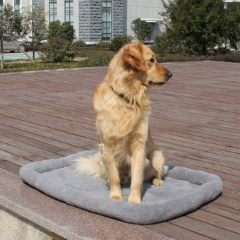 Large Warm Soft Fleece Pet Dog Kennel Cat Puppy Bed Mat Pad HouseCushion - intl