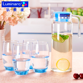 Luminarc-hot water with five pieces sets of water bottle cup
