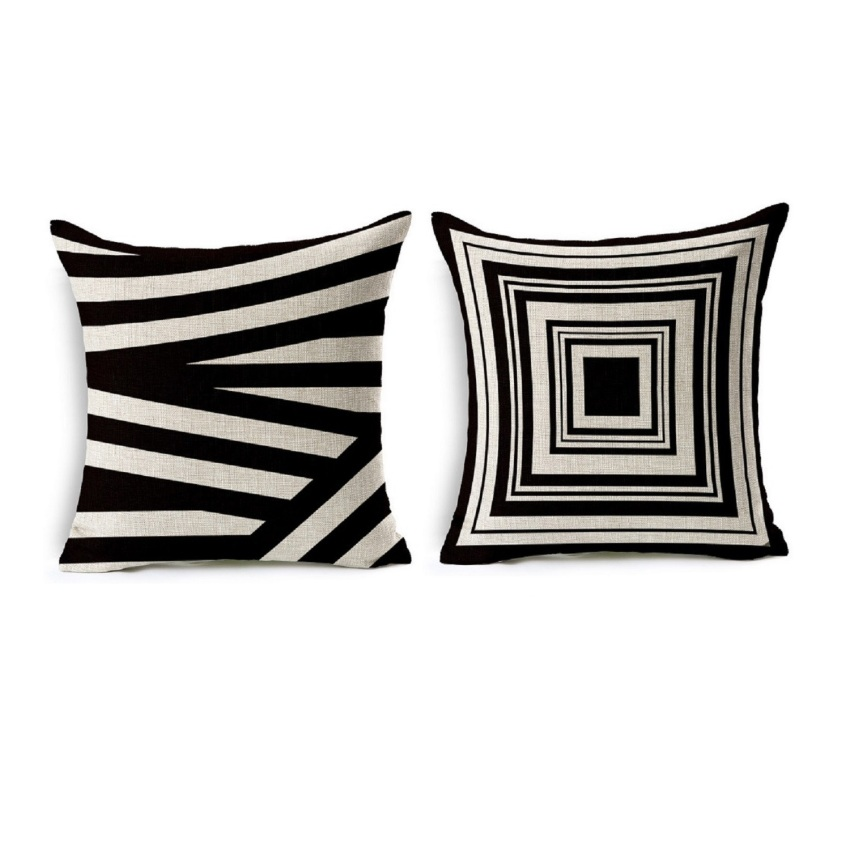 Throw Pillow Covers Set Of 4 : M.E.F Throw Pillow Cover Checkered Series - Set of 3 Lazada PH