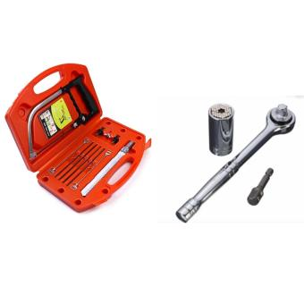 Magic Saw Multipurpose Magic Saw DIY Handy Saw 8 Blades With GatorGrip 7-19mm Multi-function Universal Socket Wrench Repail Tools