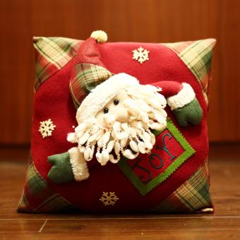 Merry & Bright Santa Claus Joy Soft Christmas Pillow