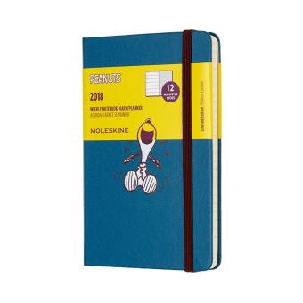 Moleskine 12M 2018 Limited Edition Peanuts Weekly Notebook PocketPlanner (Snoopy)