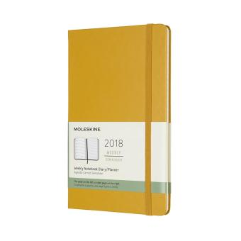 Moleskine 12M 2018 Weekly Notebook Hard Cover Large Planner (MapleYellow)