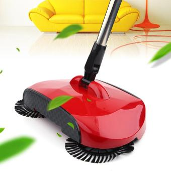 New Hand Push Household Cleaning Floor Sweeper Broom Sweeping Machine without Electricity (Red) - intl