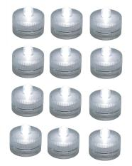 niceEshop 12 Set Underwater Submersible Flameless Battery-Operated Lights  LED Tea Light Candle Lamp For Wedding,White - intl