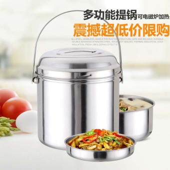 Outdoor multi-layer stainless steel lunch box to the pot