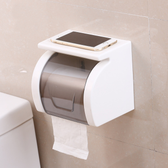 Punched roll tube waterproof toilet paper holder tissue box