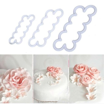 Rose shape Mold Mould Sugar Craft Fondant Mat Cake Decorating Tools3pcs/set - intl
