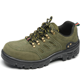Safety leather for men and women work site shoes steel head safety shoes