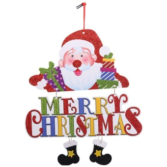 Santa Claus Snowman Tree Door Christmas Decoration HangingPendant(Red) - intl