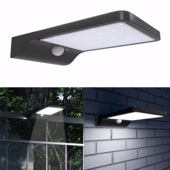 Solar Motion Sensor Light 42LED 550Lumens Max Solar Wall Lights Outdoor Ultra Slim Wireless Waterproof Garden Yard Street Lighting - intl