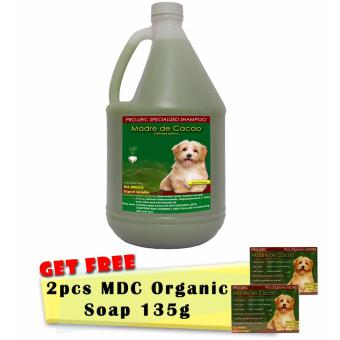 Specialized Dog Shampoo Madre de Cacao 1gallon with Free 2pcs Prolific Madre de Cacao Organic Soap 130g